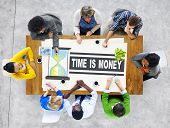 Time Money Hour Glass Casual People Concept