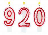 Candles Number Nine Hundred Twenty