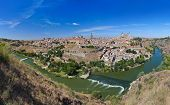 Panorama of Toledo Spain - nature and architecture background
