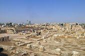 Buildings Of Amman Citadel In Jordan