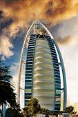 DUBAI, UAE - JANUARY 31: Burj Al Arab hotel on January 31, 2012 in Dubai. Burj Al Arab is a luxury 7 stars hotel.