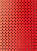 picture of metal grate  - Concept conceptual red abstract metal stainless steel aluminum perforated pattern texture mesh background as metaphor to industrial - JPG