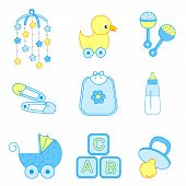 picture of baby duck  - Cute baby boy icon  - JPG