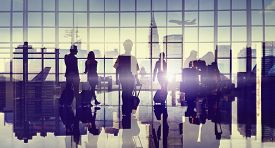 picture of cabin crew  - Business People Silhouette Cabin Crew Airport Professional Occupation - JPG