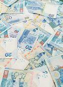 picture of twenty dollar bill  - Twenty Hong Kong dollar background - JPG
