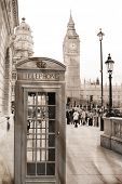 picture of phone-booth  - Vintage view of London - JPG