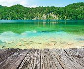 picture of bavaria  - Alpsee lake at Hohenschwangau near Munich in Bavaria - JPG