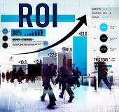 stock photo of revenue  - Return On Investment Financial Management Revenue Concept - JPG