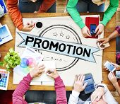 foto of promoter  - Promotion Marketing Branding Commercial Advertising Concept - JPG