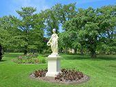 pic of goddess  - The Statue of the Roman Goddess Flora at the Halifax Public Gardens In Halifax Nova Scotia Canada - JPG