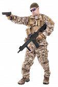 foto of glock  - Soldier in uniform - JPG