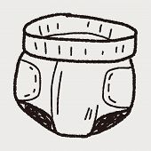 picture of diaper  - Diaper Doodle - JPG