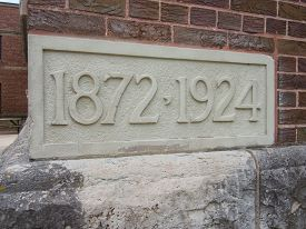 foto of cornerstone  - Cornerstone showing the age of a church 1872 - JPG