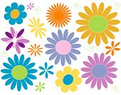 stock photo of daisy flower  - daisy design elements in pastel brights - JPG