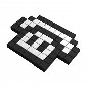 3d telephone pixel icon