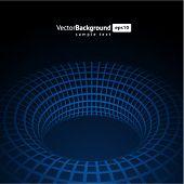 3d  blue wire torus vector background