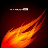 Abstract flame wave vector background