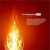 Branden van de vlam brand vector achtergrond