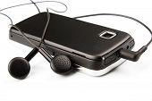 Handy und Ohrhörer