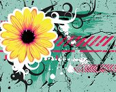 Abstract background with flower