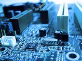 Blue Tone Circuit Board