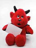 Devil Toy  With A Blank Note  poster