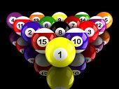 Billiard Balls With Ground Reflection