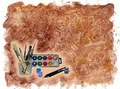 Stock Photo Of Art Tools Template