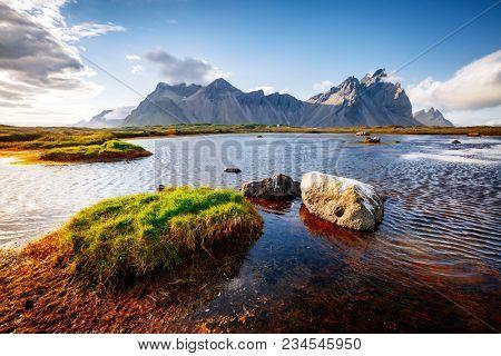 Beautiful mountain landscape on sunny