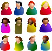 picture of people icon  - people diversity - JPG