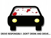 stock photo of blood drive  - An art illustration to encourage people to not drink and drive - JPG