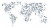 International Collage Map Constructed Of Fart Gases Pictograms. Vector Fart Gases Scattered Flat Ite poster