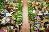 Vegetable market in Kota Bharu, Kelantan, Malaysia, Asia