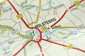 Holstebro. Kongeriget Danmark. Road On The Map. poster