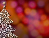 Snowflake Tree Background