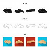 Case, Shell, Framework, And Other  Icon In Black, Flat, Outline Style.box, Container Package Icons I poster