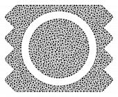 Condom Package Collage Of Small Circles In Variable Sizes And Color Hues. Round Dots Are Organized I poster