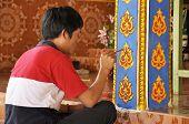 Man Color Art Ancient Asian Paint
