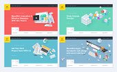 Set Of Website Template Designs. Modern Vector Illustration Concepts Of Web Page Design For Website  poster