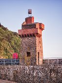 The Rhenish Tower On The Quay At Lynmouth, Devon, Uk. This Tower Was Built In The 19th Century, Mode poster