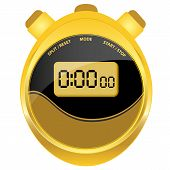 Digital Stopwatch Modern Oval Style
