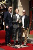 Los Angeles, ca 15 September: Neil Patrick Harris; Jason Segel; Joss Whedon im Rahmen einer Zeremonie in Ne