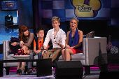 LOS ANGELES - AUG 21:  Bella Thorne, Davis Cleveland, Kenton Duty, Caroline Sunshine at the D23 Expo