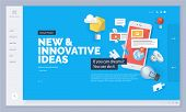 Website Design. Vector Illustration Template For Website And Mobile Website Design And Development.  poster