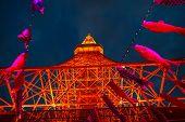 Koinobori At Tokyo Tower By Night poster