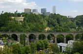 skyline of the European Quarter in Luxembourg