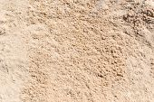 Sand Texture. Brown Sand. Background From Fine Sand. Sand Background poster