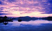 Sunrise At Sun Moon Lake In Taiwan