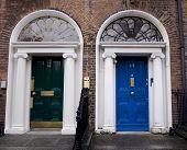 Blue And Green Georgian Doors