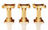 Three bronze pedestals